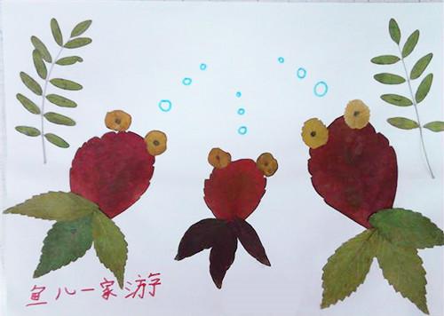 树叶粘贴画是怎样弄的 树叶粘贴画素材欣赏