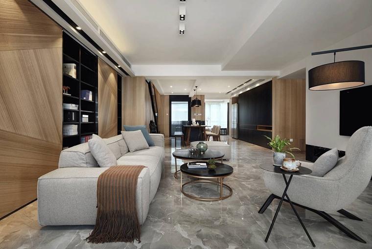 超酷复式房装修布艺沙发