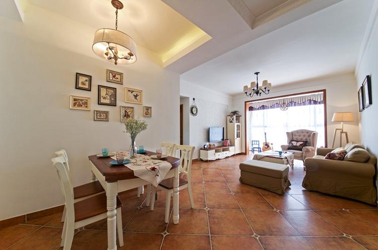80平两居室装修客厅效果图