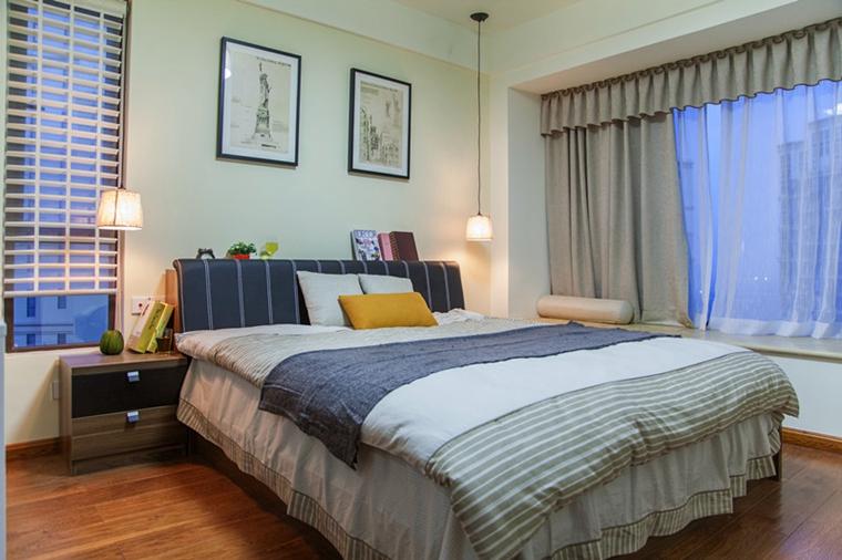 120平三居室装修主卧效果图