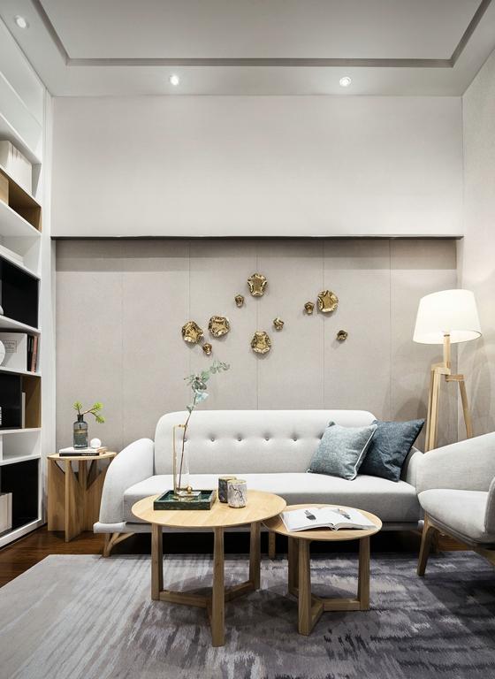 120平简约风格三居室沙发背景墙效果图2/8