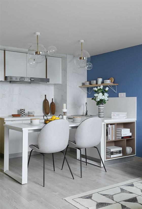 70平小户型装修开放式厨房图片