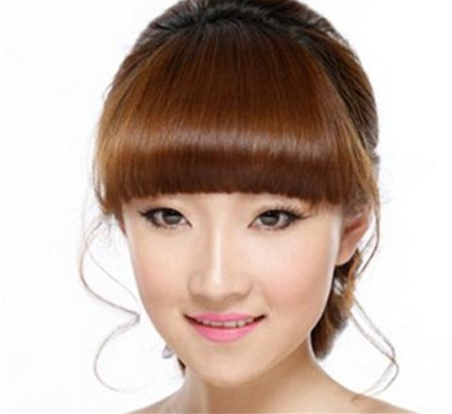 韩式齐刘海新娘发型 为新娘打造唯美造型