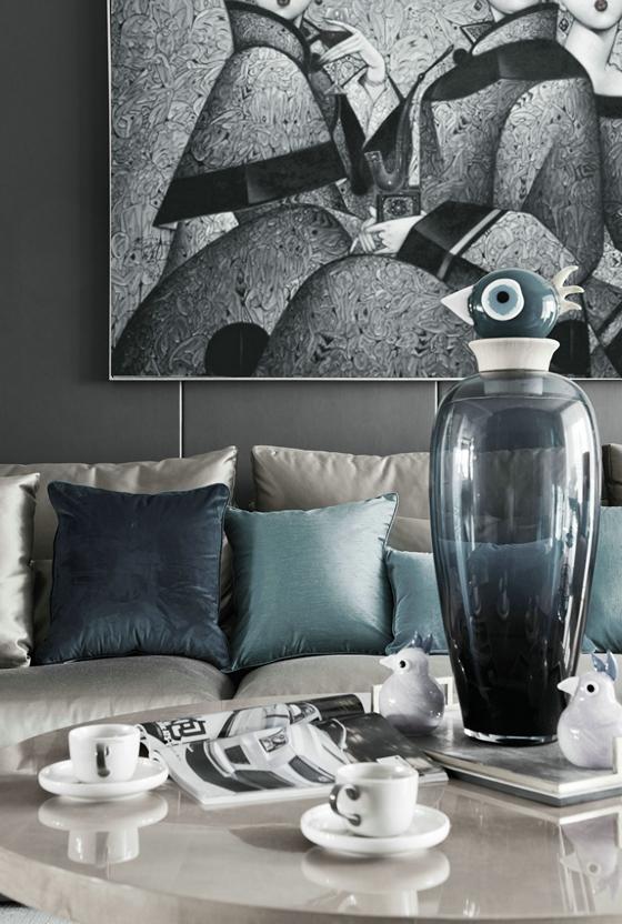 时尚三居室装修布艺沙发图片