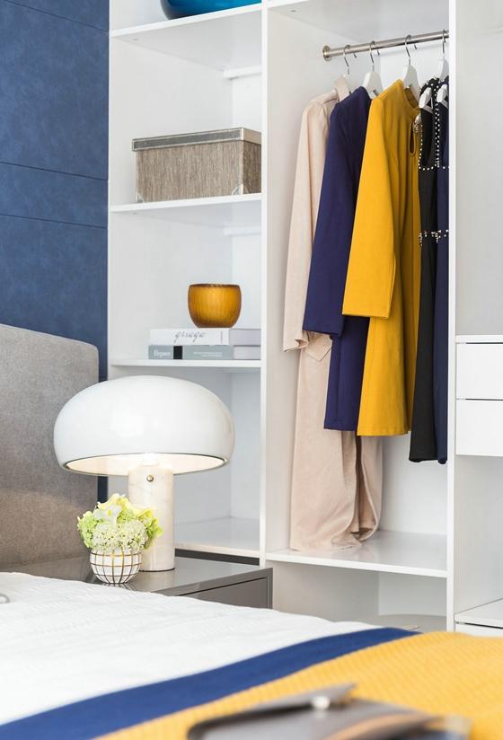 时尚撞色公寓设计衣柜图片