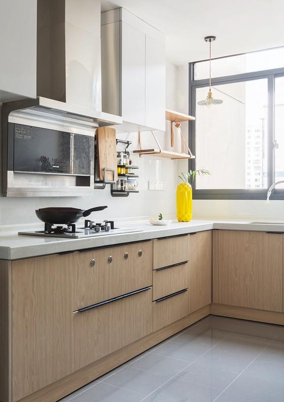 清新两居室装修厨房效果图