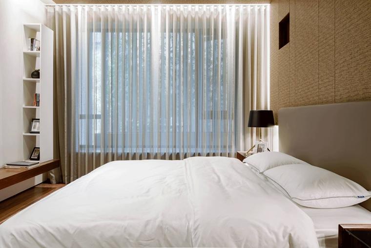 简约风样板房装修卧室图片