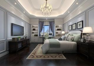 美式卧室装潢图