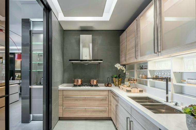 三居室公寓装修厨房效果图