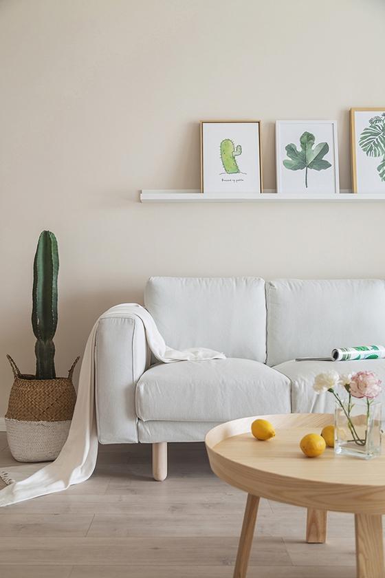 80平北欧风格装修沙发背景墙效果图
