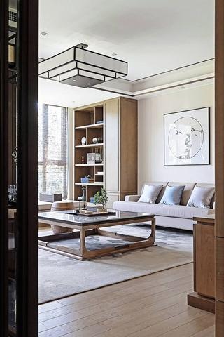 新中式装修让家更温馨客厅隔断图片