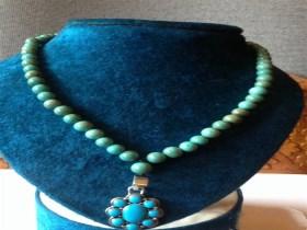 绿松石项链女项链