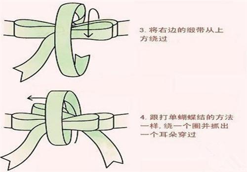 双蝴蝶结的系法图解2017新版 蝴蝶结有几种打法