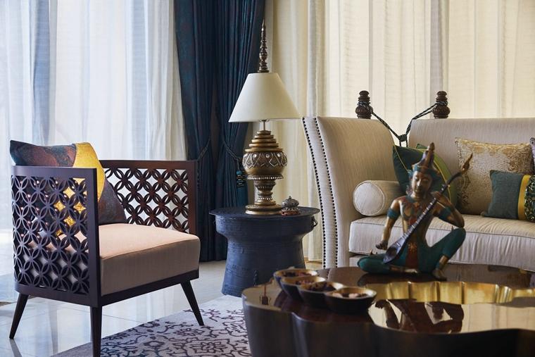 东南亚风格装修布艺沙发图片