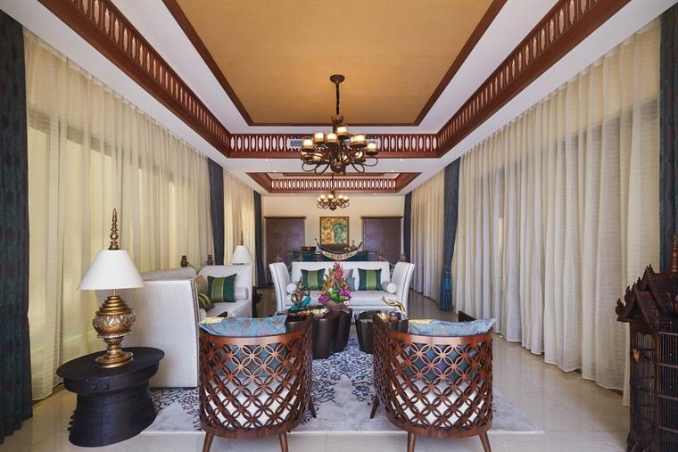 东南亚风格装修客厅吊灯图片