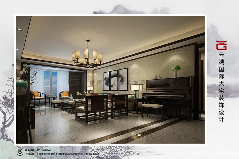 15-20万120平米中式三居室装修效果图,丰台莲玉嘉园沈图片