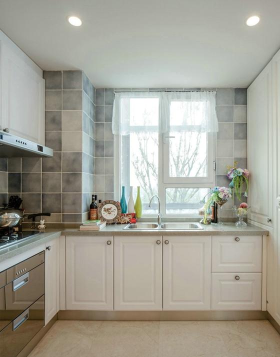 很养眼的样板房设计厨房效果图