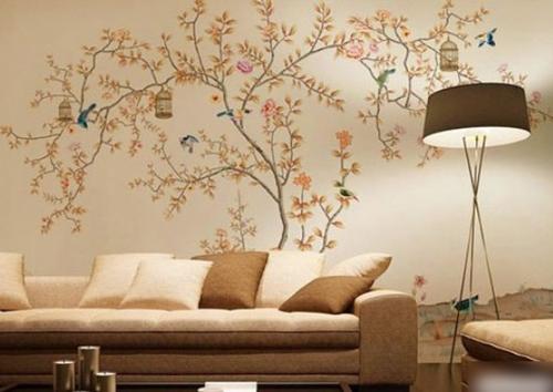 室内墙绘设计 艺术与优乐国际居的完美结合