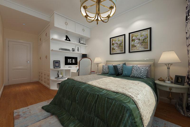 10-15万120平米中式三居室装修效果图,新中式装修案例图片