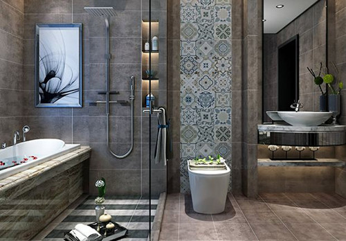 卫生间瓷砖装修效果图 卫生间装修效果图