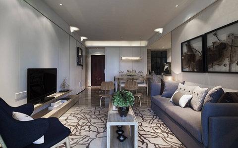 15 20万120平米简约三居室装修效果图,现代装修案例效果图 齐家装修网