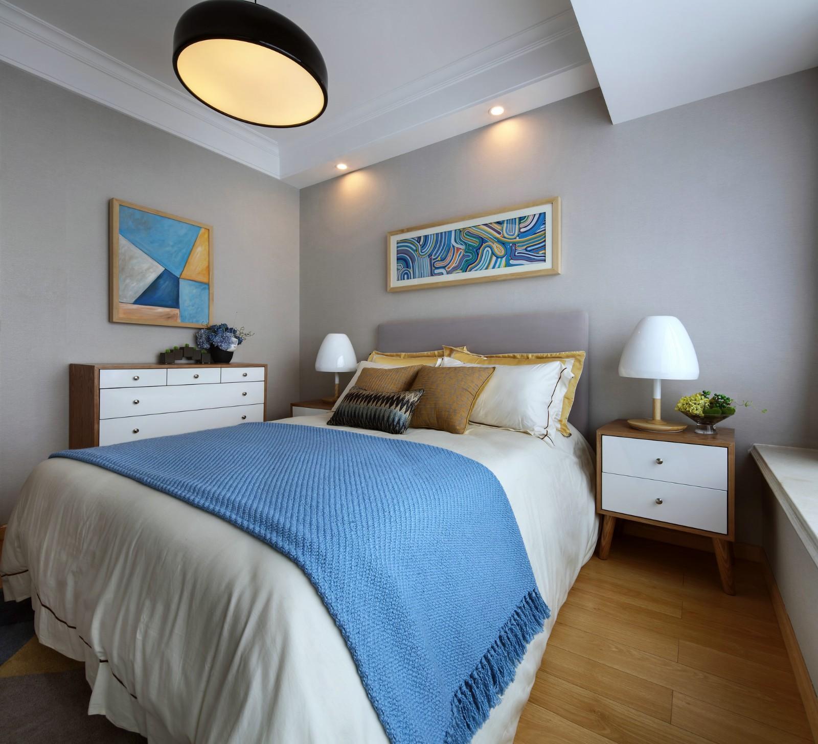 二居室現代簡約臥室裝修效果圖