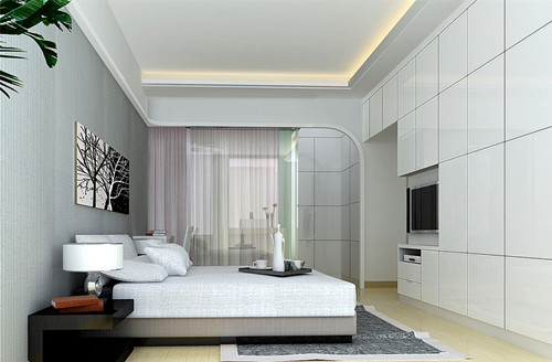 122平米三室一厅装修效果图 简单混搭让家充满情调