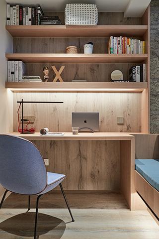 北欧极简文艺两居室书房装潢图