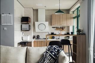 魅力飘窗两居室开放式厨房图片