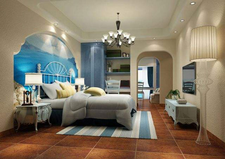 卧室背景墙布局设计效果图