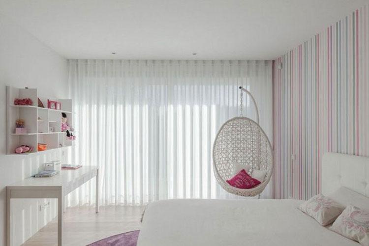 卧室布艺窗帘欣赏图片