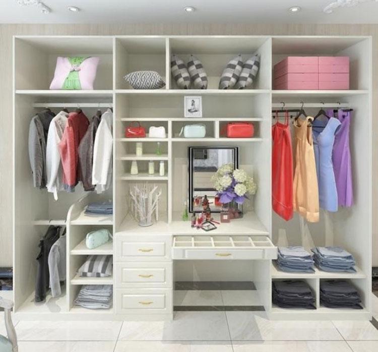 大容量衣柜布置图