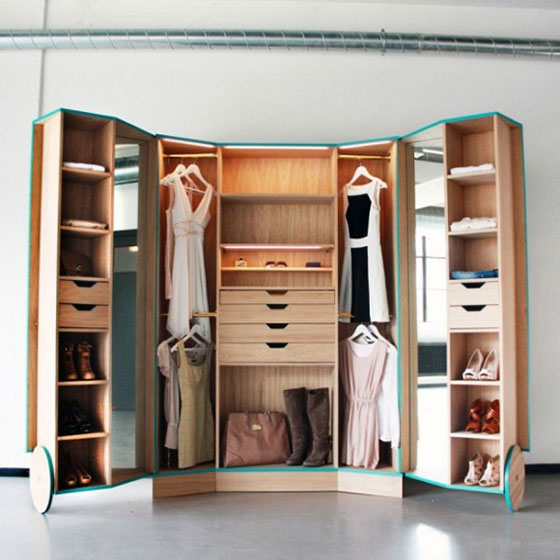 创意整体衣柜装修图