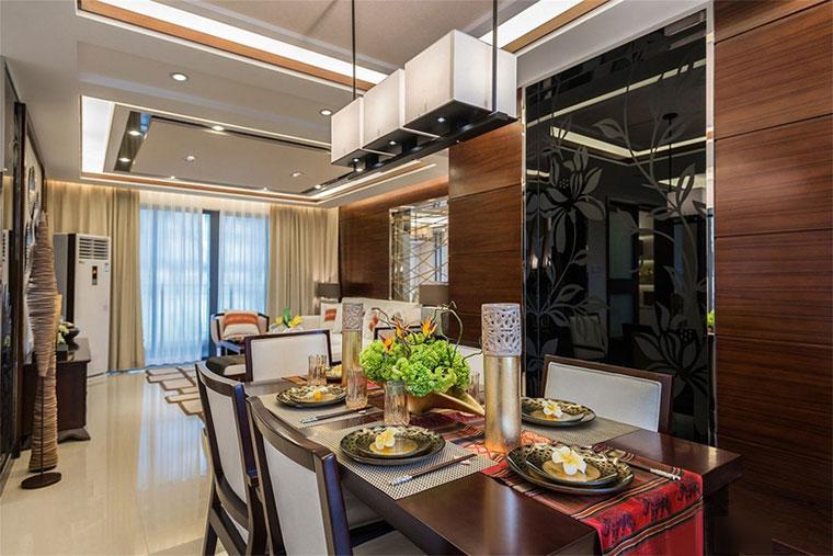 新中式风格房屋装修餐桌欣赏图