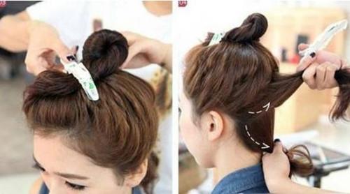 这时女生需要根据自己头发发量的大小来决定,头发多的可以分成3-4份