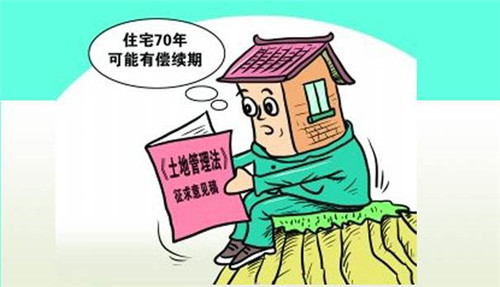 70年使用权_非住宅建设用地使用权期间届满后的续期,依照法律规定办理.