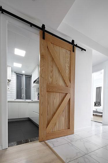纯净北欧风格装修隐形门设计图