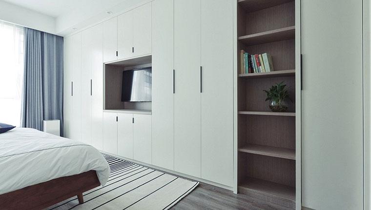 135㎡现代简约台式两居室卧室衣柜设计图