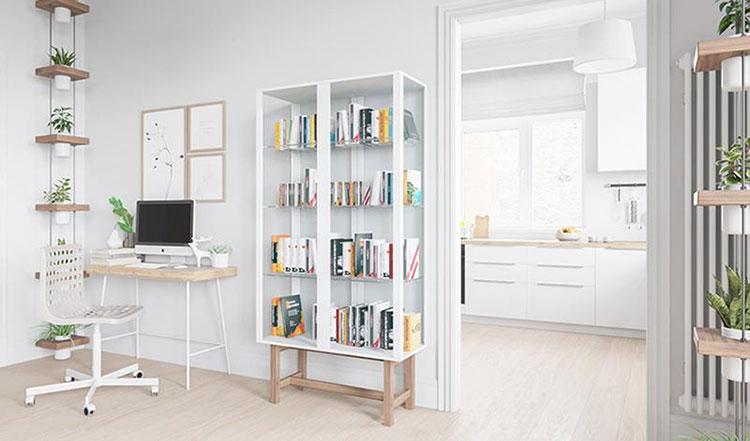 85平宜家风格清新两居室工作区布置图