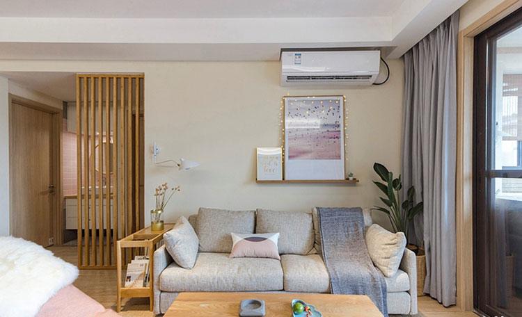 110㎡现代简约风格三室两厅布艺沙发图片
