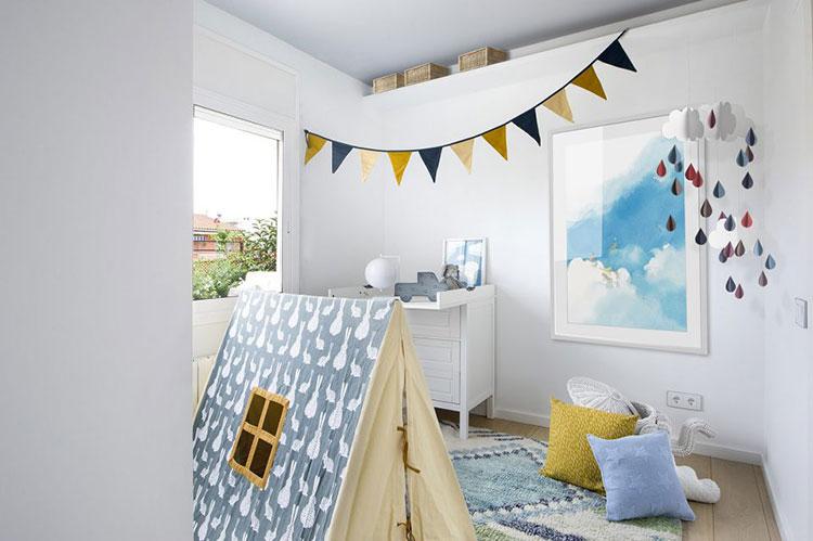 巴塞罗那两居室装修儿童房布置图