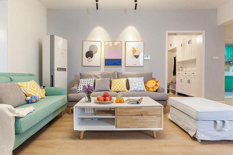 120平方宜家风装修效果图布艺沙发图片