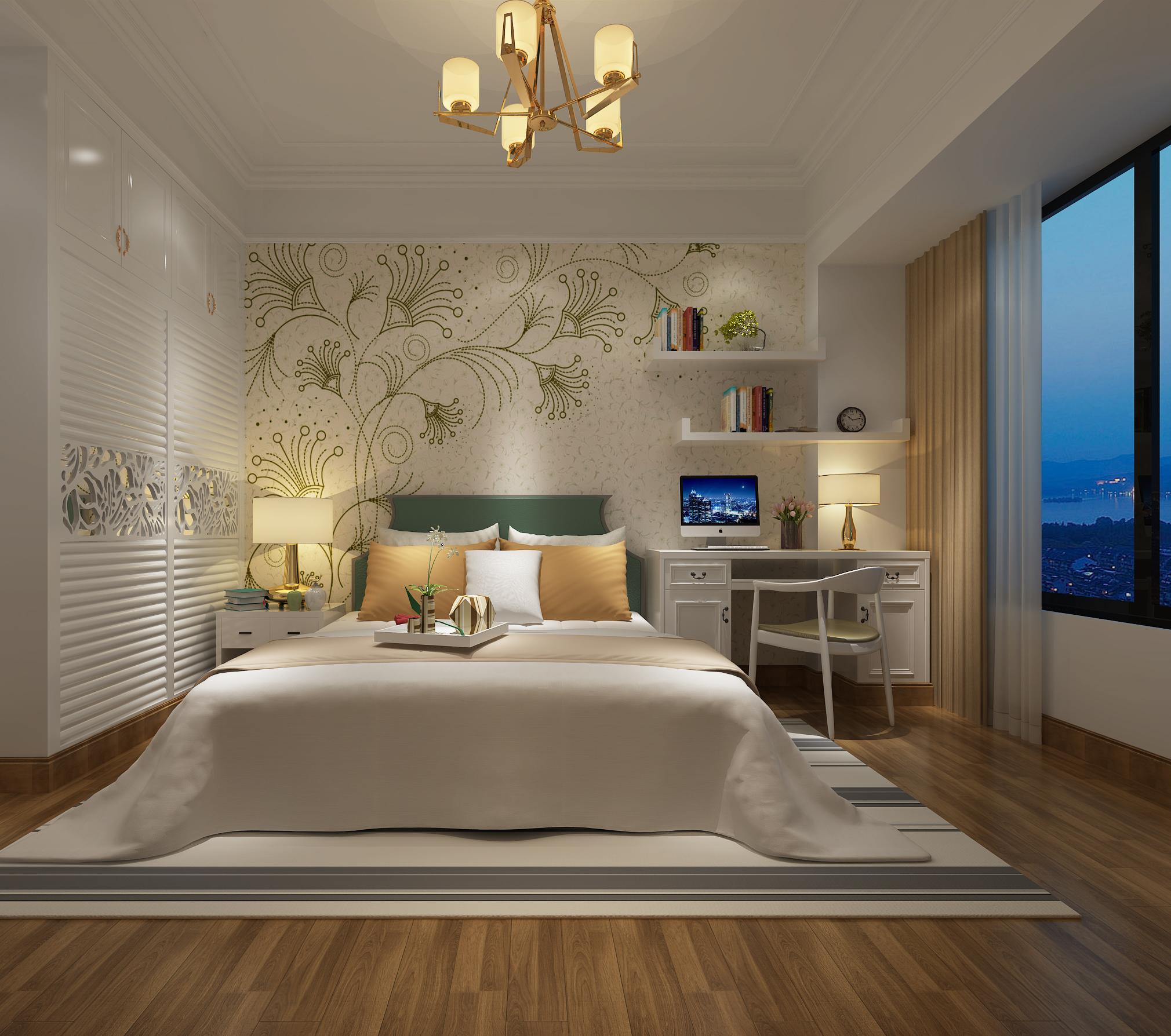 150平欧式风格三居卧室装修效果图