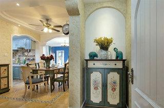 地中海风格三居室装修收纳柜欣赏图