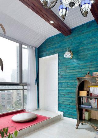 地中海风格三居室装修背景墙图片