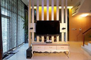 300㎡新中式风格别墅装修电视背景墙设计