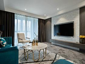 简约大气公寓装修效果图 蓝色精致迷人
