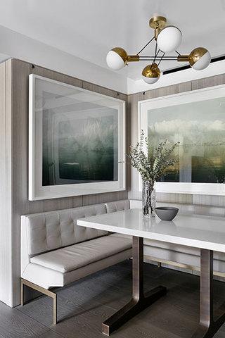 国外时尚复式住宅装修餐厅构造图