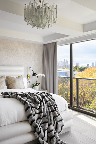 国外时尚复式住宅装修卧室效果图