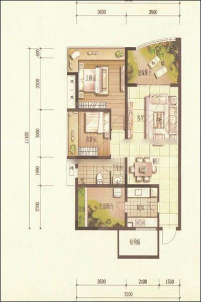 6个家装平面设计图 你从中读到了什么